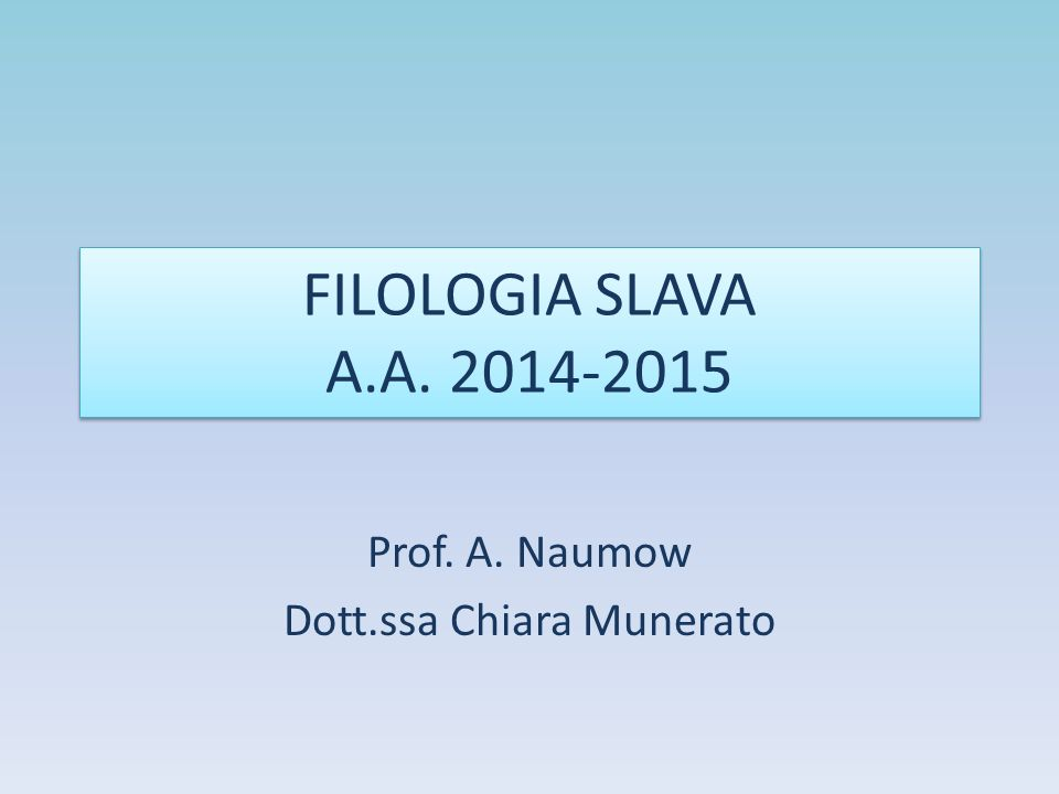 SLAVIA ORTODOSSA E SLAVIA LATINA R.