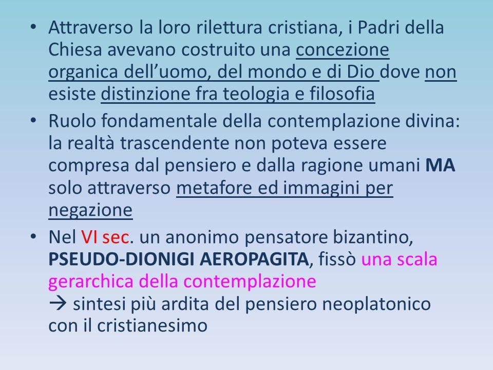 Attraverso la loro rilettura cristiana, i Padri della Chiesa avevano costruito una concezione organica dell'uomo, del mondo e di Dio dove non esiste d