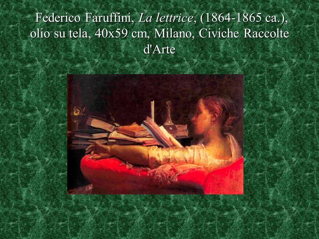 Federico Faruffini, La lettrice, (1864-1865 ca.), olio su tela, 40x59 cm, Milano, Civiche Raccolte d'Arte Federico Faruffini, La lettrice, (1864-1865