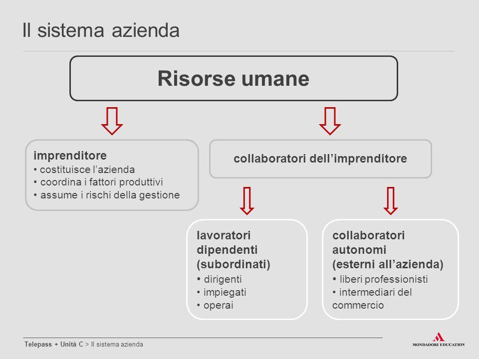 Risorse umane imprenditore costituisce l'azienda coordina i fattori produttivi assume i rischi della gestione collaboratori dell'imprenditore collabor