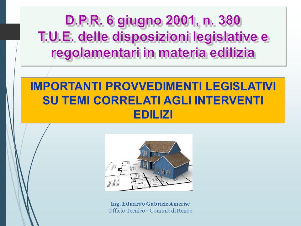D.L.40/2010 convertito in L. 73/2010 Ampliamento fattispecie attività edilizia libera (art.