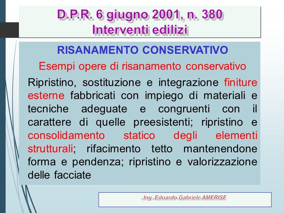 44 RISANAMENTO CONSERVATIVO Esempi opere di risanamento conservativo Ripristino, sostituzione e integrazione finiture esterne fabbricati con impiego d