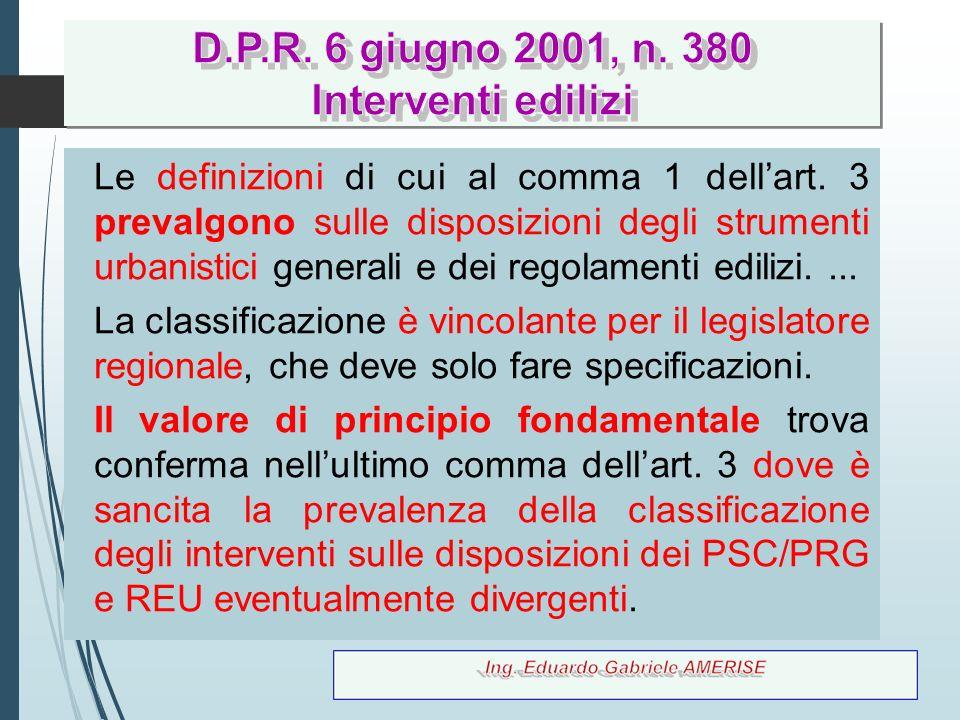 60 Le definizioni di cui al comma 1 dell'art. 3 prevalgono sulle disposizioni degli strumenti urbanistici generali e dei regolamenti edilizi.... La cl