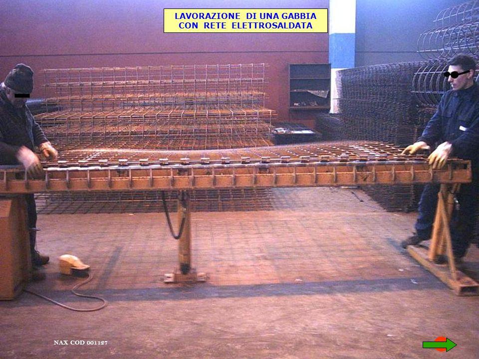 NAX COD 001127 LAVORAZIONE DI UNA GABBIA CON RETE ELETTROSALDATA