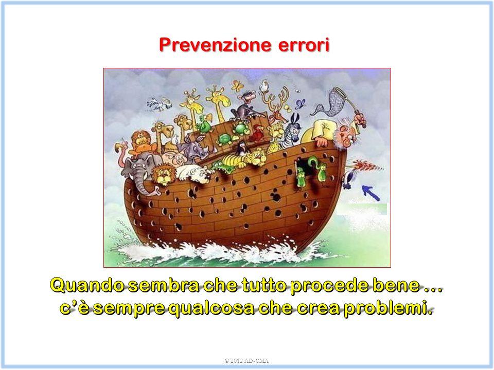 Prevenzione errori © 2012 AD-CMA