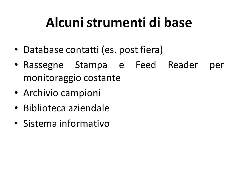 Alcuni strumenti di base Database contatti (es.