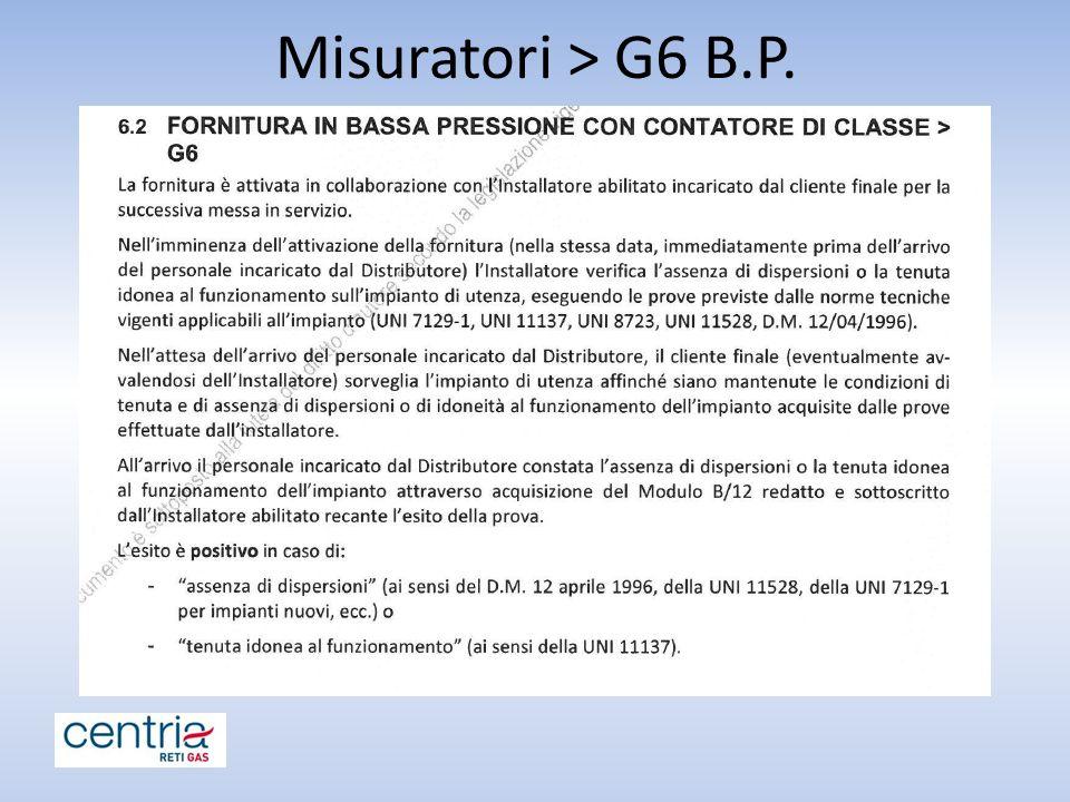 Misuratori > G6 B.P.