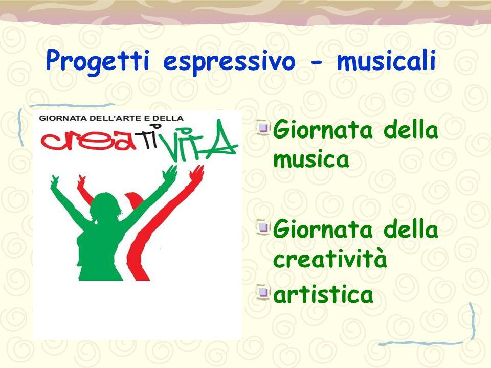 Progetti espressivo - musicali Giornata della musica Giornata della creatività artistica