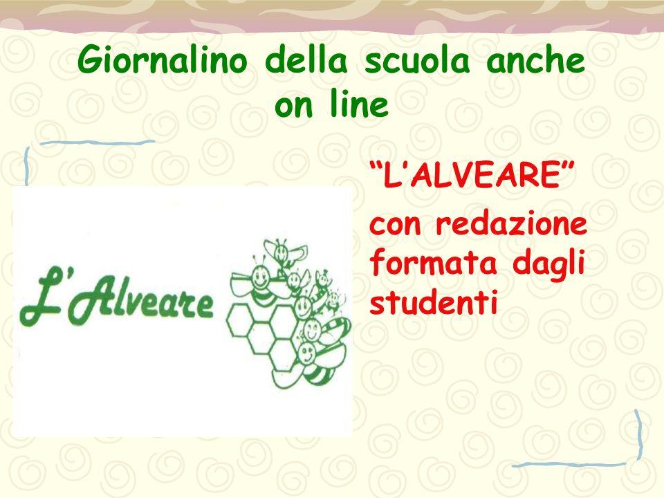 """Giornalino della scuola anche on line """"L'ALVEARE"""" con redazione formata dagli studenti"""