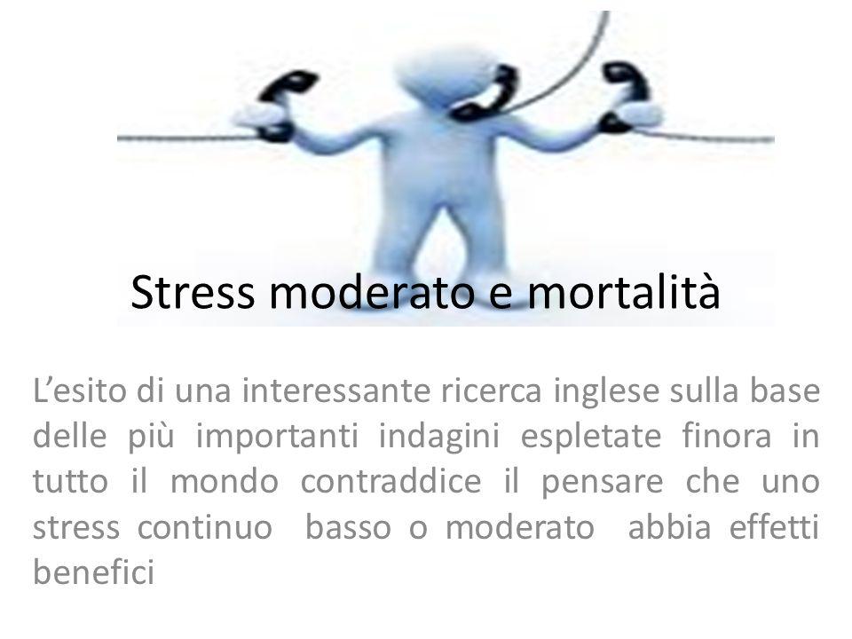 Stress moderato e mortalità L'esito di una interessante ricerca inglese sulla base delle più importanti indagini espletate finora in tutto il mondo co