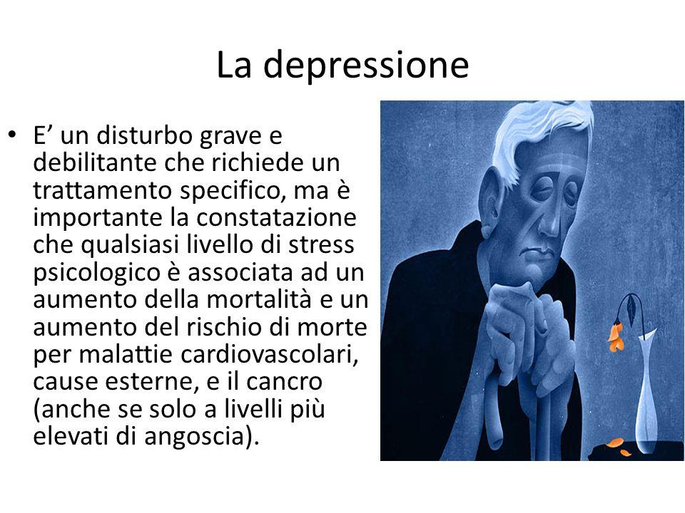 La depressione E' un disturbo grave e debilitante che richiede un trattamento specifico, ma è importante la constatazione che qualsiasi livello di str