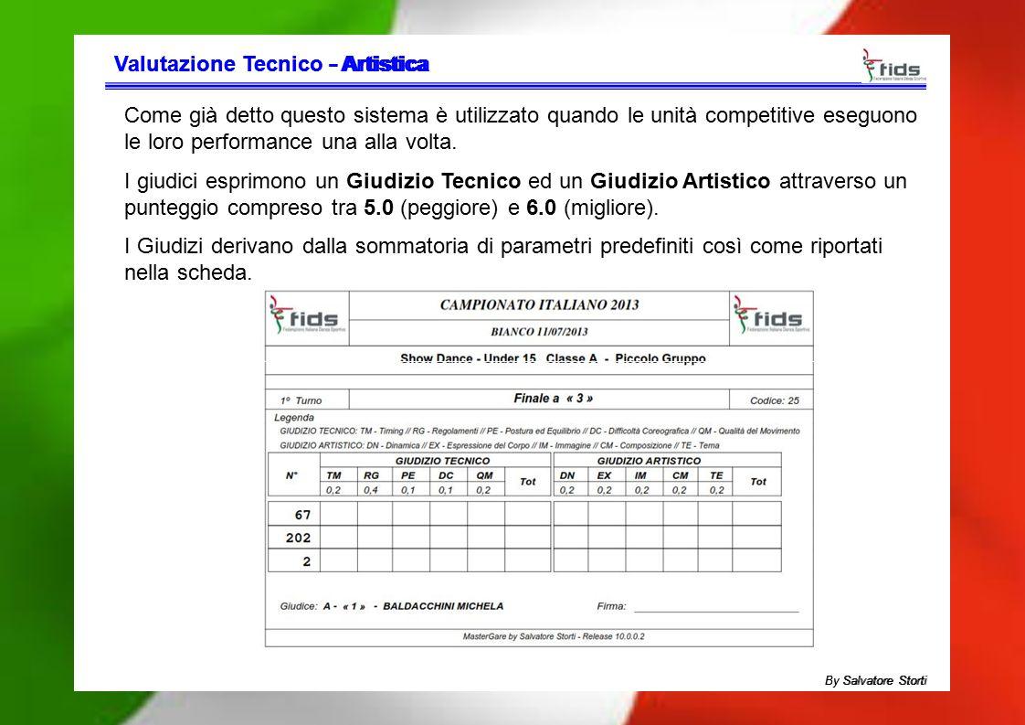 Valutazione TecnicoValutazione Tecnico - Artistica- Artistica Come già detto questo sistema è utilizzato quando le unità competitive eseguono le loro