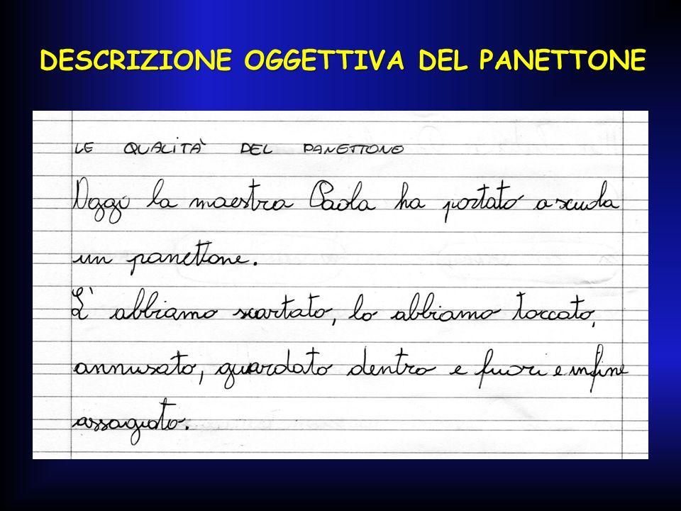 DESCRIZIONE OGGETTIVA DEL PANETTONE DESCRIZIONE OGGETTIVA DEL PANETTONE