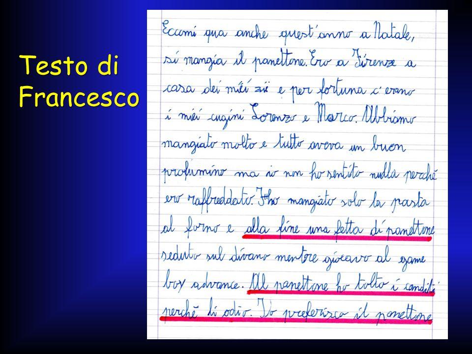 Testo di Francesco