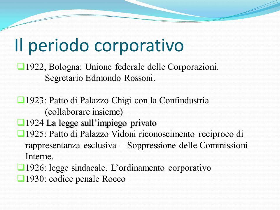 Il periodo corporativo  1922, Bologna: Unione federale delle Corporazioni.