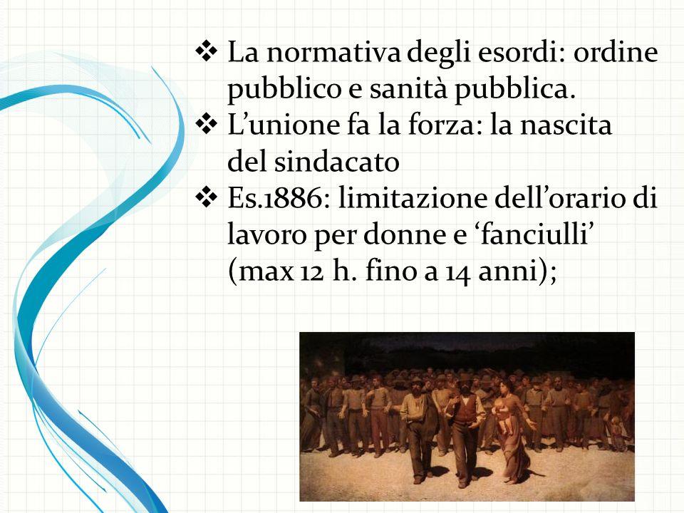  La normativa degli esordi: ordine pubblico e sanità pubblica.