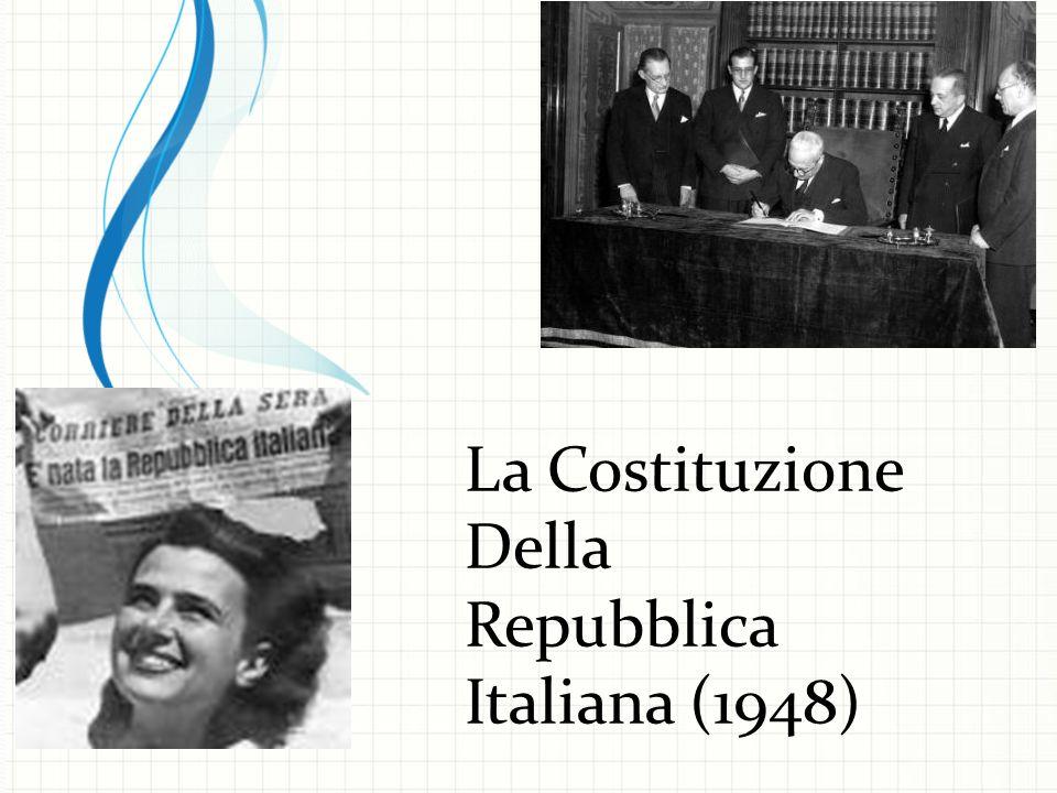 La Costituzione Della Repubblica Italiana (1948)