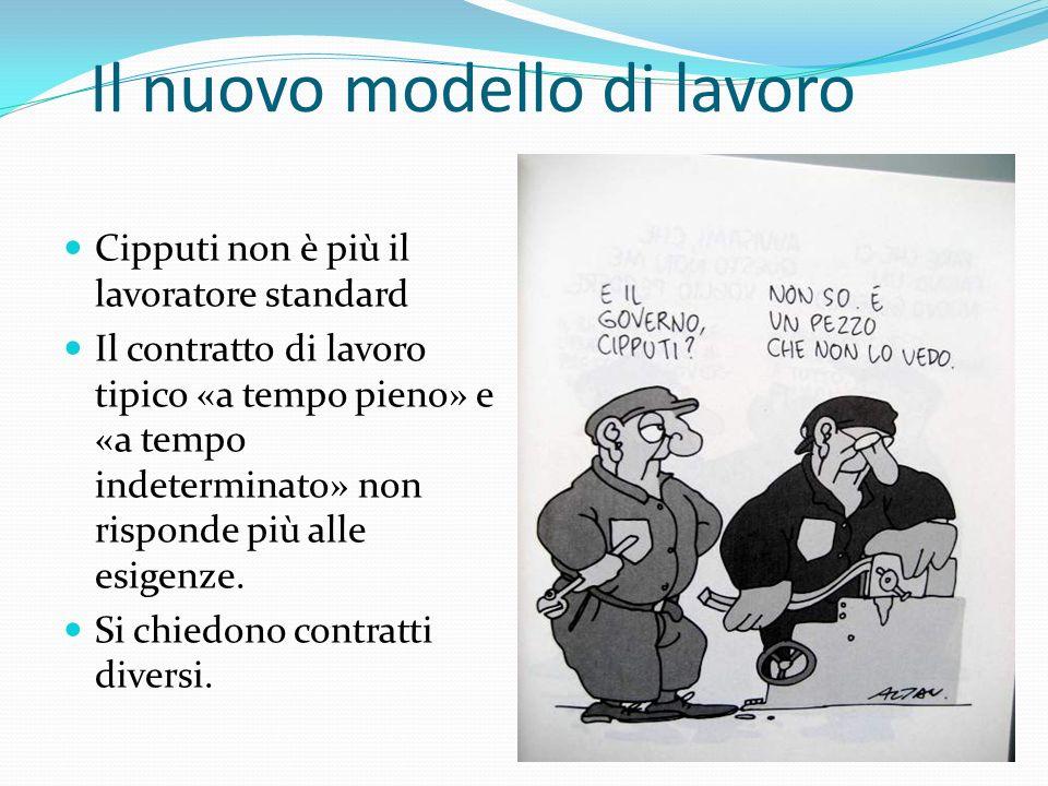 Il nuovo modello di lavoro Cipputi non è più il lavoratore standard Il contratto di lavoro tipico «a tempo pieno» e «a tempo indeterminato» non rispon