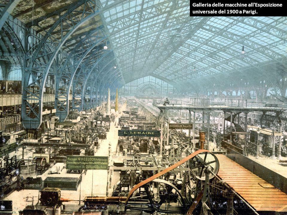 Galleria delle macchine all'Esposizione universale del 1900 a Parigi.