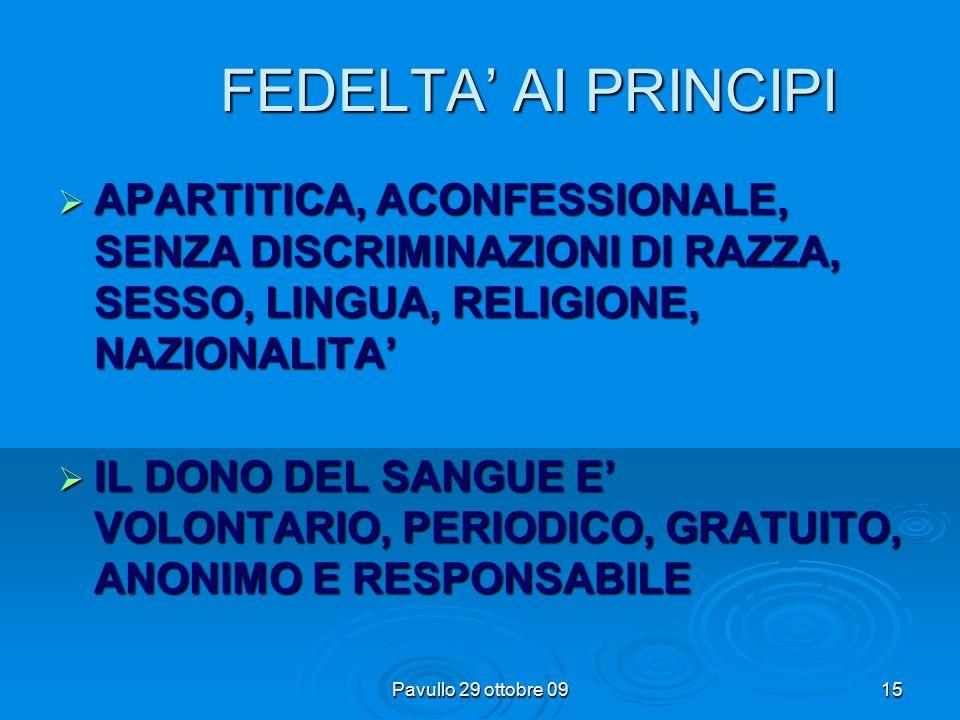 Pavullo 29 ottobre 0914 LE TAPPE A.V.I.S ASSOCIAZIONE VOLONTARI ITALIANI DEL SANGUE ITALIANI DEL SANGUE Riconosciuta con D.P.R.
