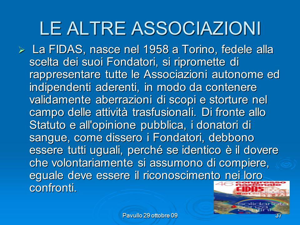 Pavullo 29 ottobre 0936 La creazione per la prima volta in Italia di una sorta di Agenzia del Sangue con l'istituzione del C.N.S.