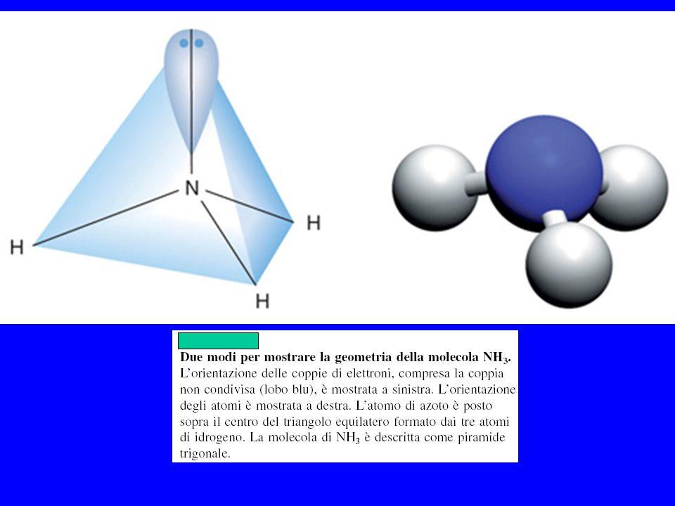 Due modi per mostrare la geometria della molecola NH3