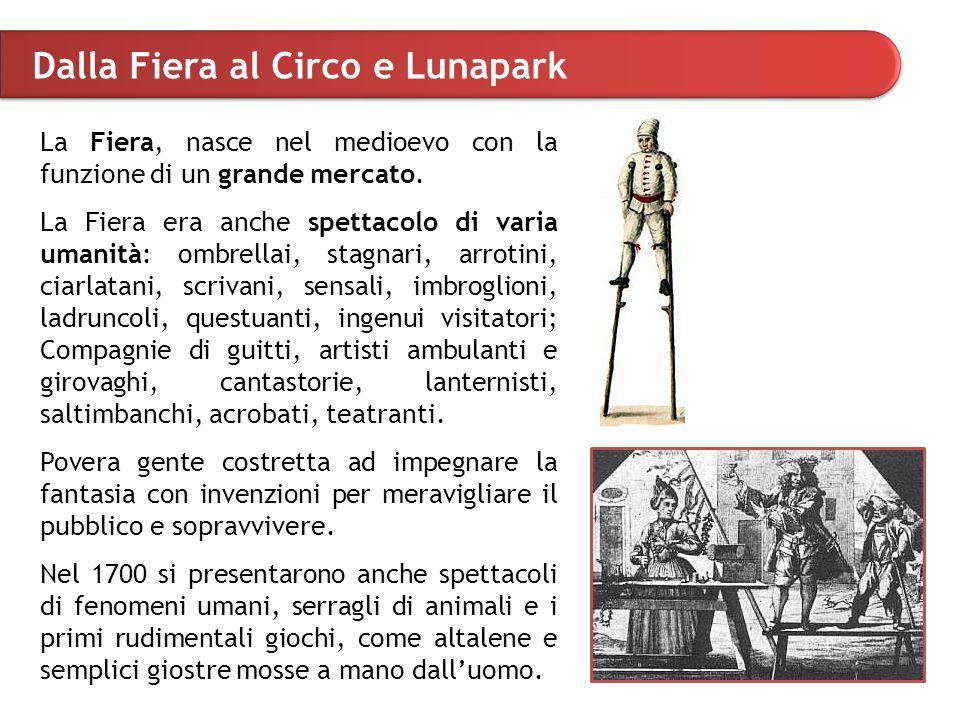 Dalla Fiera al Circo e Lunapark La Fiera, nasce nel medioevo con la funzione di un grande mercato.
