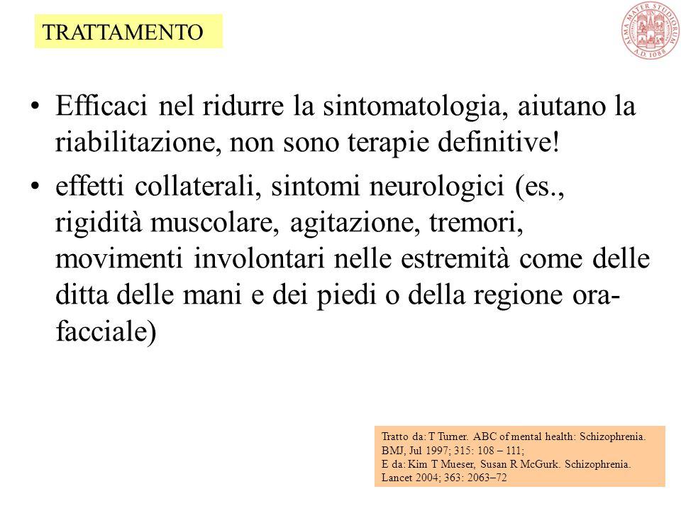 Efficaci nel ridurre la sintomatologia, aiutano la riabilitazione, non sono terapie definitive.