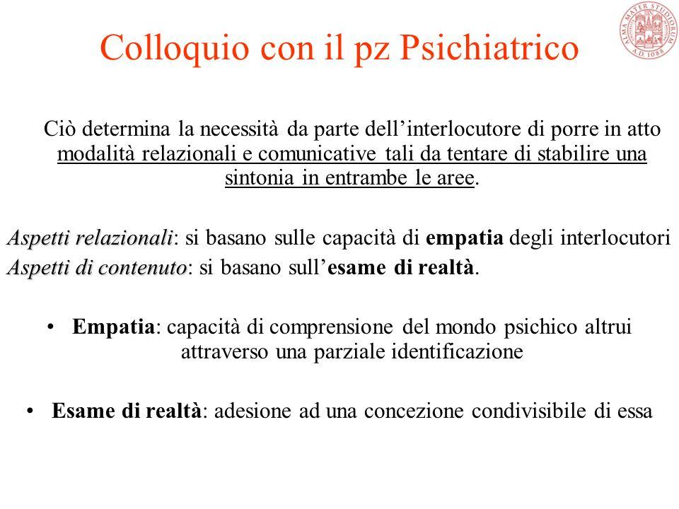 Ciò determina la necessità da parte dell'interlocutore di porre in atto modalità relazionali e comunicative tali da tentare di stabilire una sintonia in entrambe le aree.