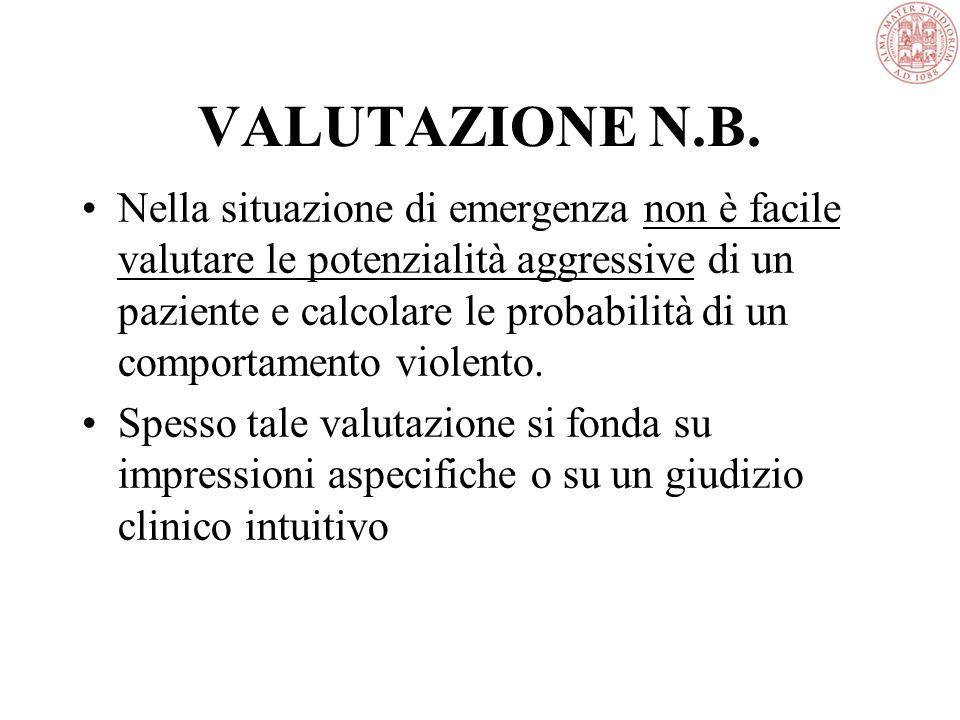 VALUTAZIONE N.B.