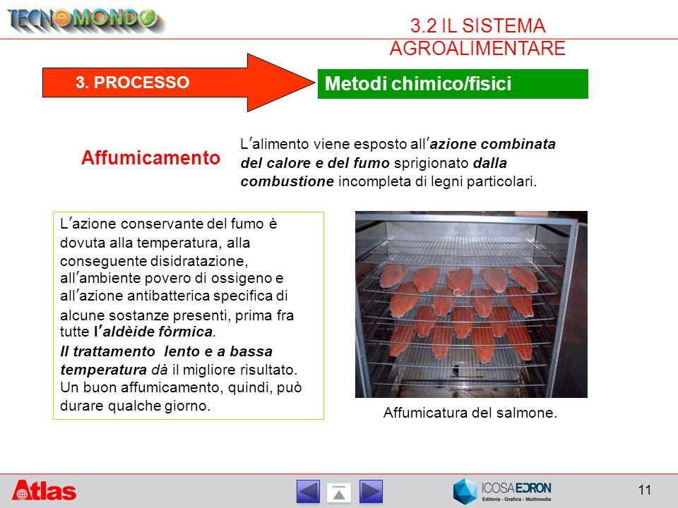 11 3.2 IL SISTEMA AGROALIMENTARE Metodi chimico/fisici 3.