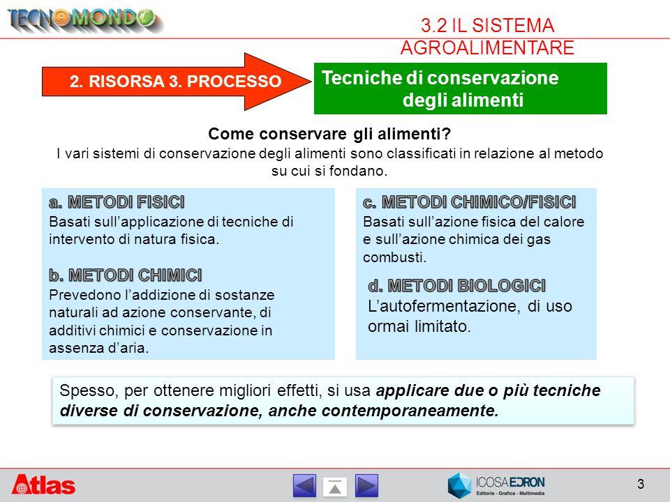 4 3.2 IL SISTEMA AGROALIMENTARE 3.PROCESSO Metodi fisici: basse temperature a.