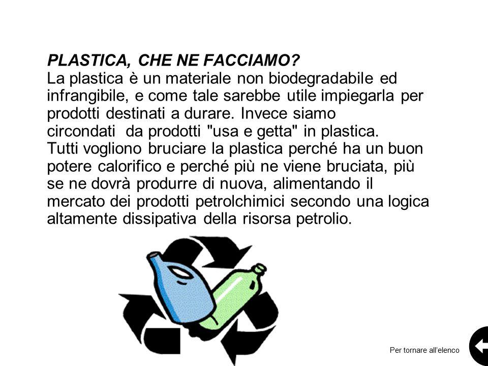 PLASTICA, CHE NE FACCIAMO.