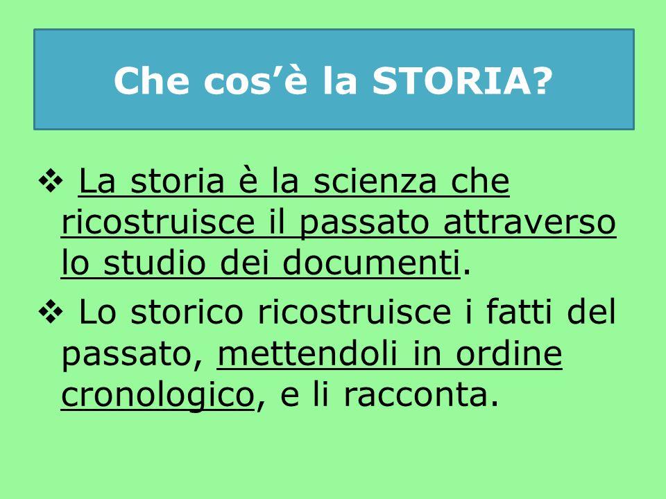 Che cos'è la STORIA.