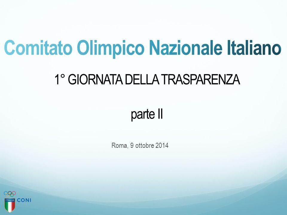 1° GIORNATA DELLA TRASPARENZA parte II Roma, 9 ottobre 2014