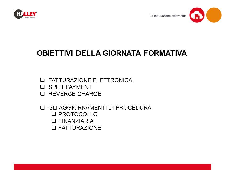  FATTURAZIONE ELETTRONICA  SPLIT PAYMENT  REVERCE CHARGE  GLI AGGIORNAMENTI DI PROCEDURA  PROTOCOLLO  FINANZIARIA  FATTURAZIONE OBIETTIVI DELLA