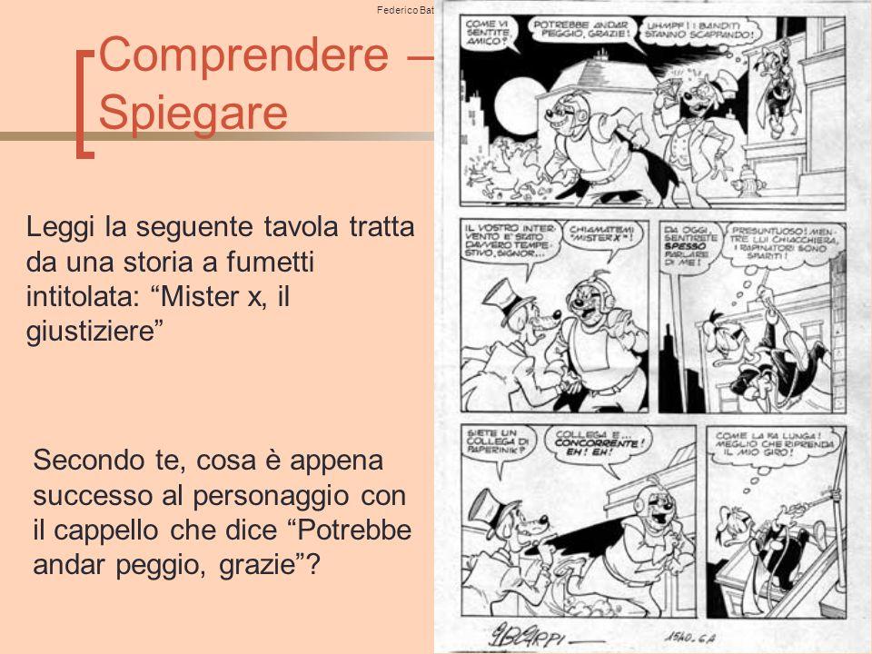 Federico Batini– Dip. di Filosofia, Scienze Sociali, Umane e della Formazione– Università degli studi di Perugia 91 Comprendere – Spiegare Leggi la se