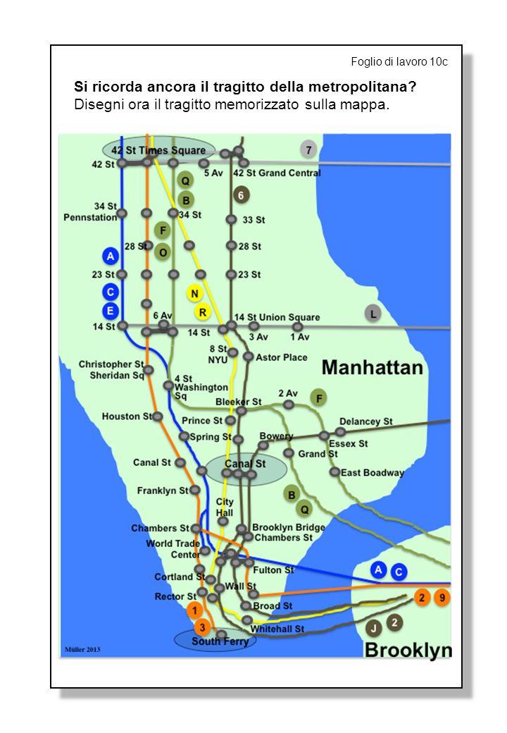 Foglio di lavoro 10c Si ricorda ancora il tragitto della metropolitana.