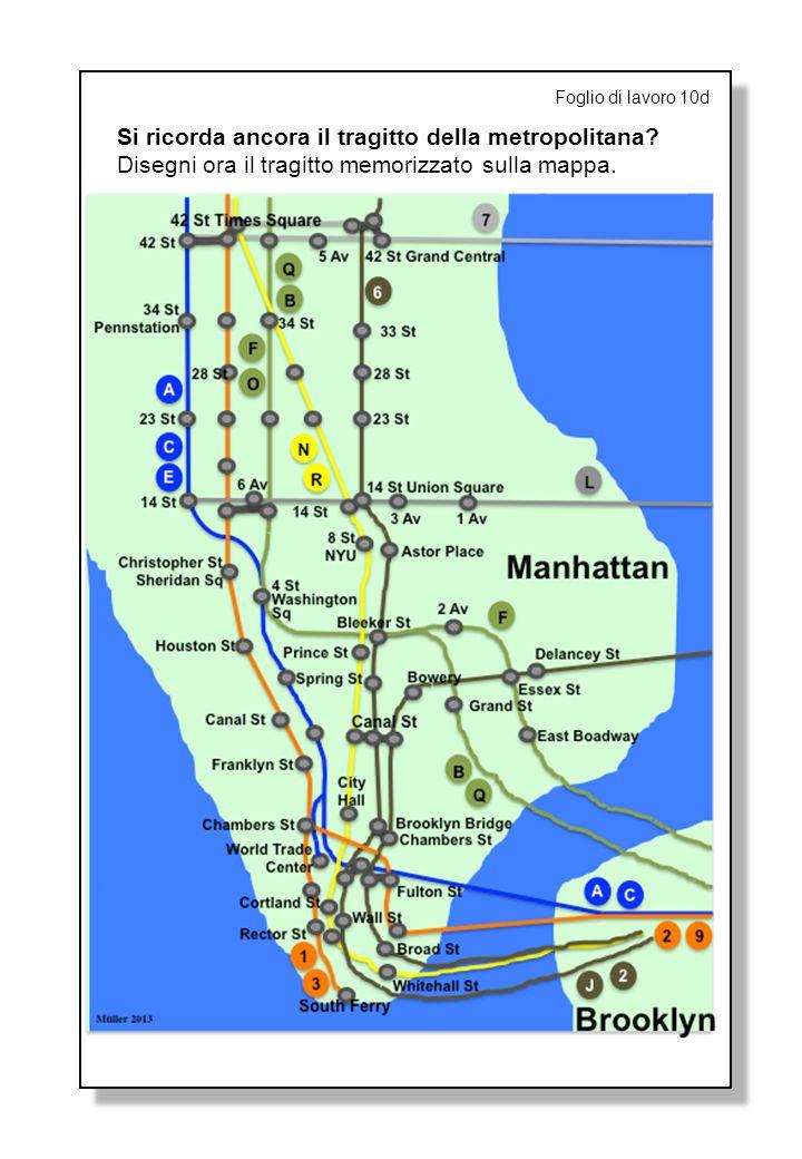 Foglio di lavoro 10d Si ricorda ancora il tragitto della metropolitana.