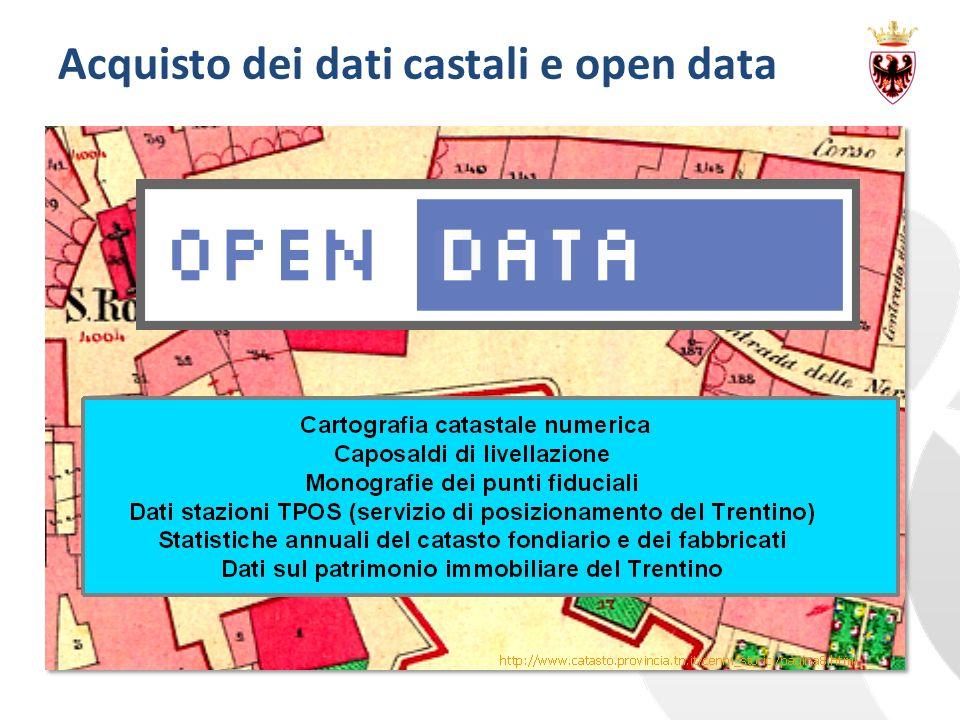 Acquisto dei dati castali e open data