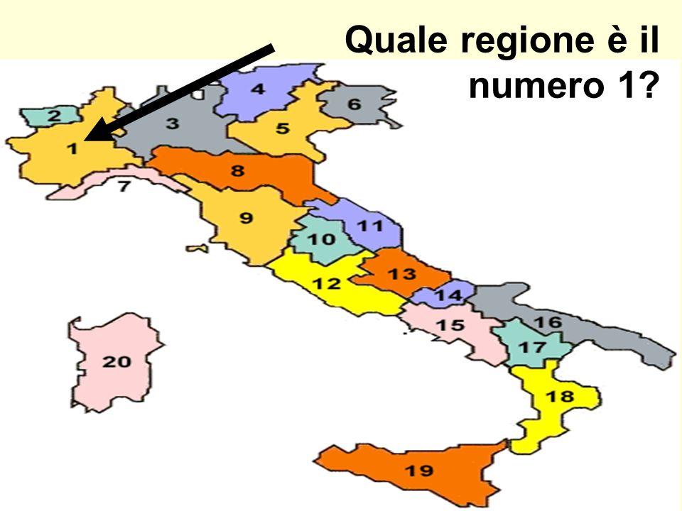 Quale regione è il numero 1?