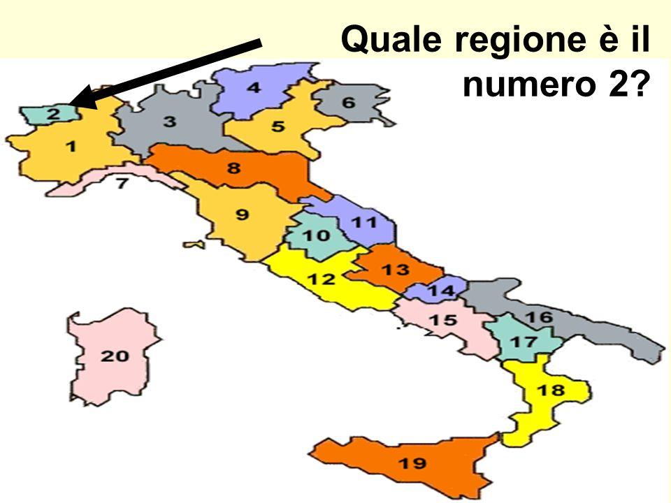 Quale regione è il numero 2?