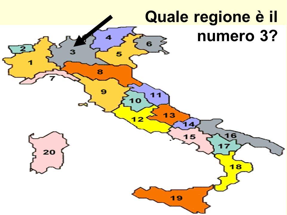 Quale regione è il numero 3?