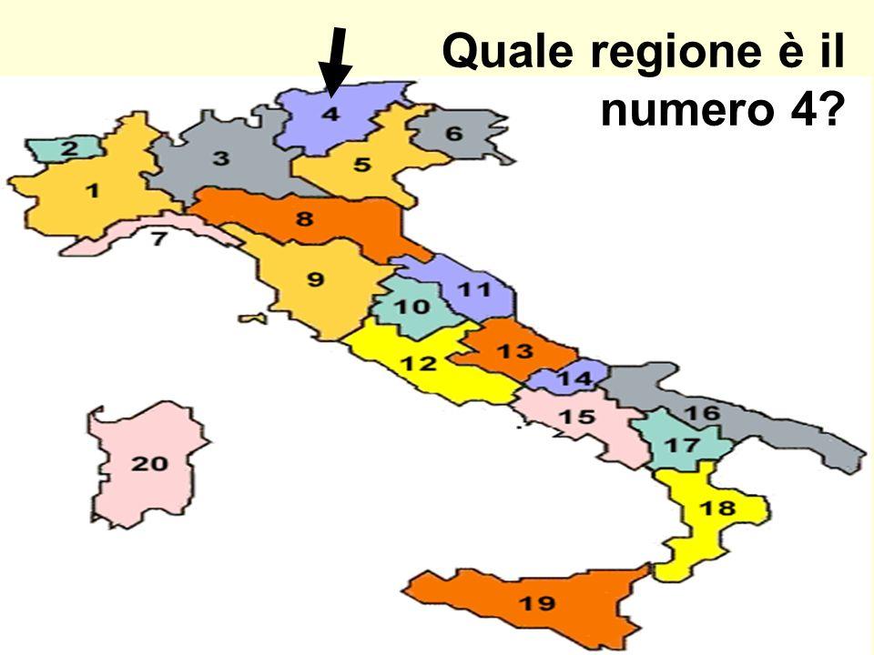 Quale regione è il numero 4?