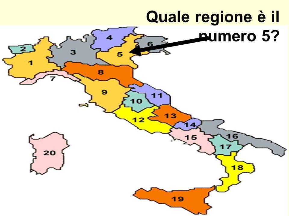Quale regione è il numero 5?