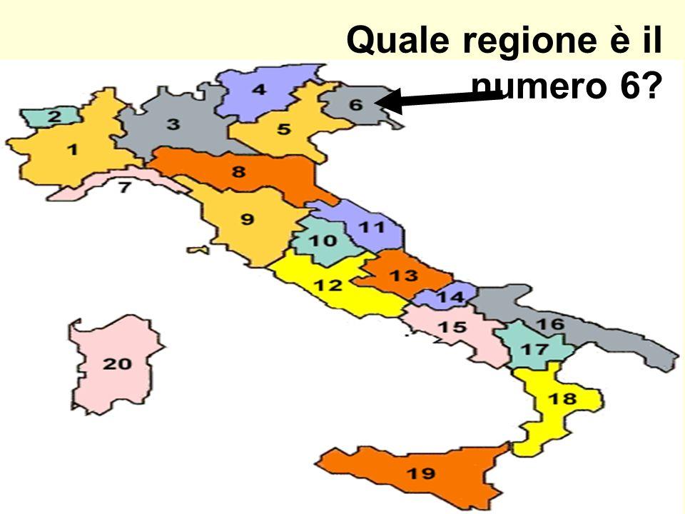 Quale regione è il numero 6?