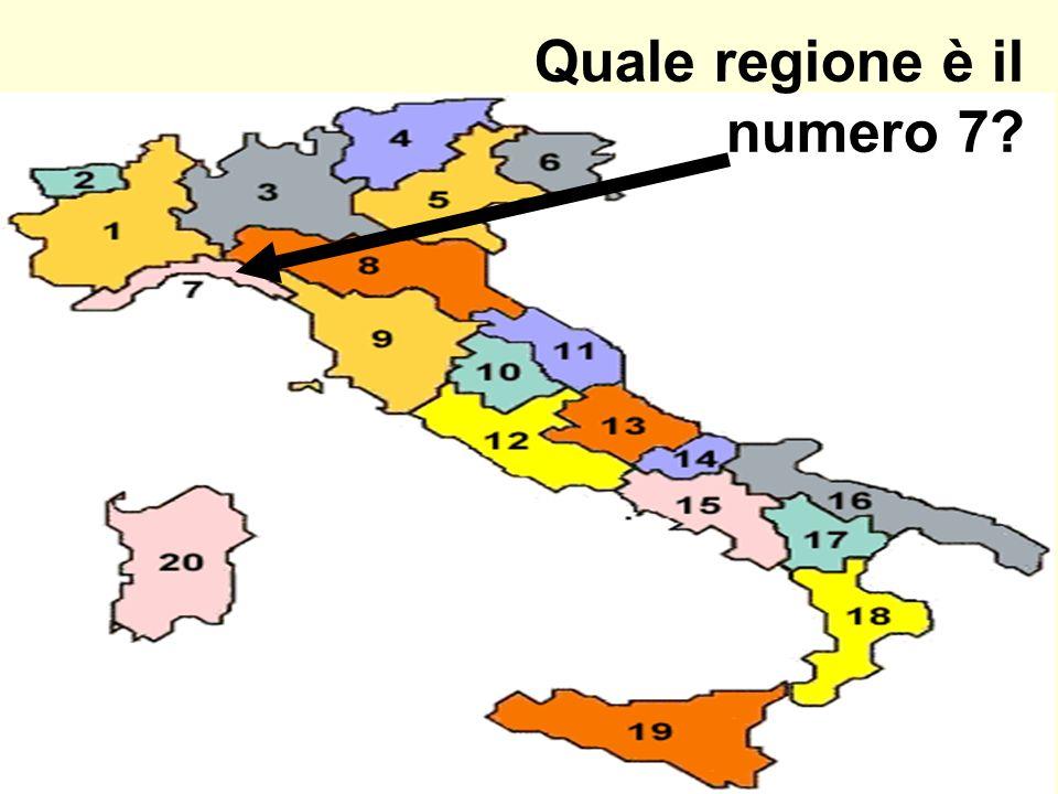 Quale regione è il numero 7?