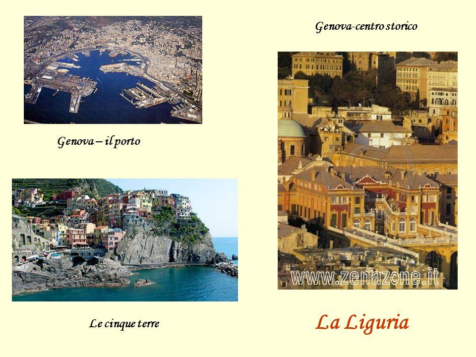 Genova – il porto Genova-centro storico Le cinque terre La Liguria