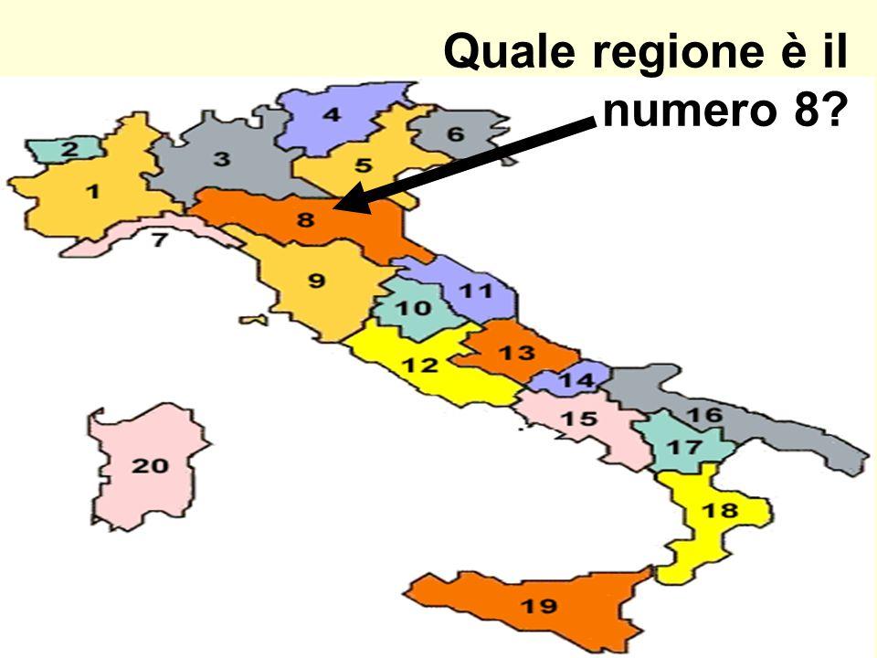 Quale regione è il numero 8?