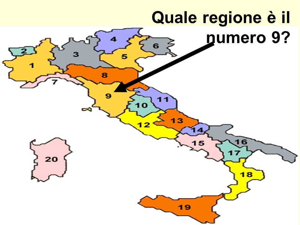 Quale regione è il numero 9?